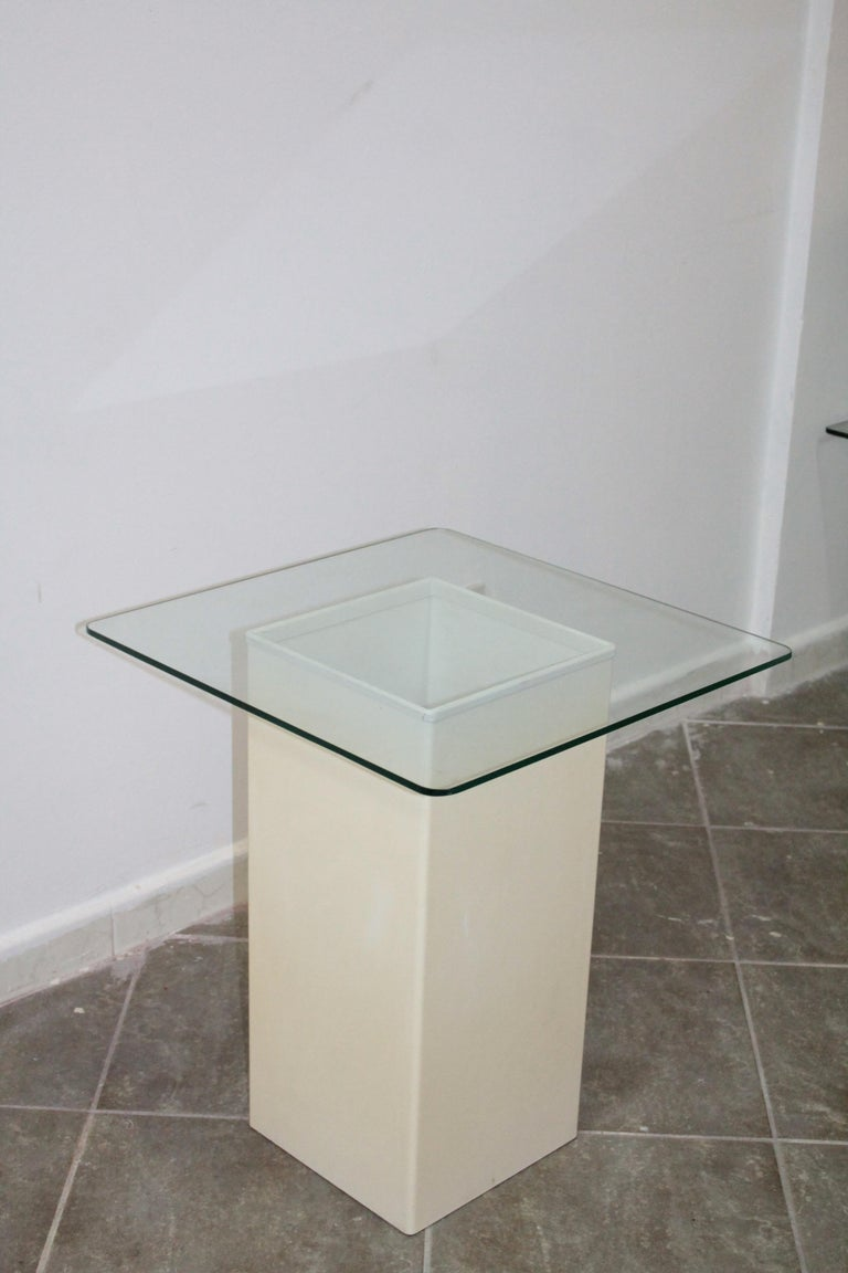 Vintage Side Table Design Kartell 1970s Signed In Good Condition For Sale In Palermo, Palermo