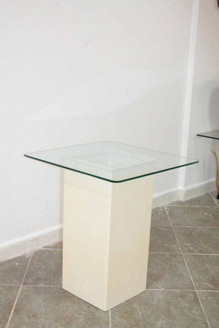 Late 20th Century Vintage Side Table Design Kartell 1970s Signed For Sale