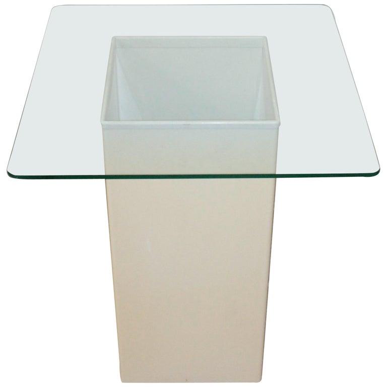 Vintage Side Table Design Kartell 1970s Signed For Sale