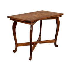 Vintage Side Table Rosewood Folding Marquetry Low, Mid-20th Century