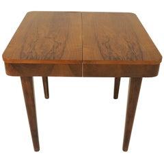 Vintage Side Table Walnut by Jindrich Halabala, 1950s