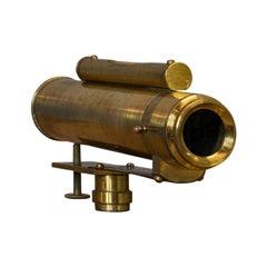 Vintage Sight Level, English, Brass, Handheld Surveyor's Instrument, circa 1930