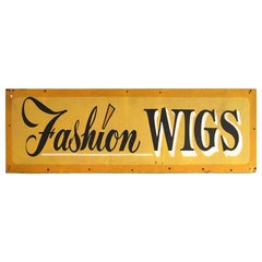 "Vintage Sign ""Fashion Wigs"""
