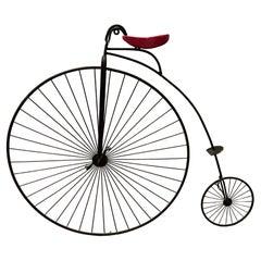 "Vintage Signed Curtis Jere ""Highwheeler"" Bicycle Wall Sculpture"