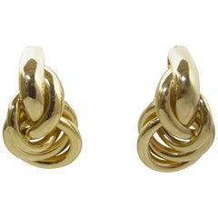 Vintage Signed Erwin Pearl 'Love Knot' Earrings