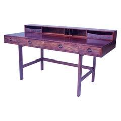Vintage Signed Flip-Top Desk by Peter Løvig-Nielsen for Løvig, Dansk, 1973