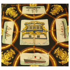 Vintage Signed Hermes France Silk Scarf