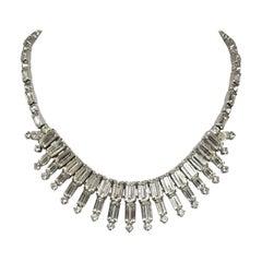 Vintage Signed Kramer Crystal Necklace