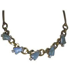 Vintage Signed Mazer Bros. Blue Necklace