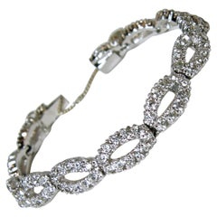 Vintage Signed Panetta Crystal Bracelet