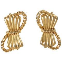 Vintage Signed Schiaparelli Bow Earrings