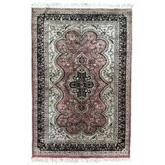 Vintage Silk and Wool Pakistani Rug