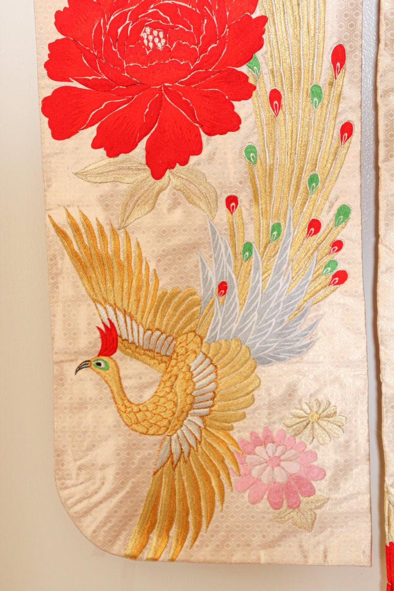 Vintage Silk Brocade Japanese Ceremonial Kimono For Sale 10