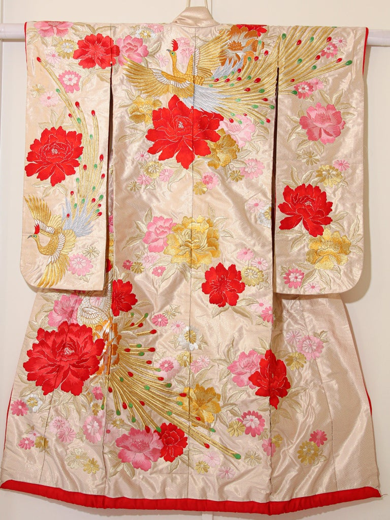 Vintage Silk Brocade Japanese Ceremonial Kimono For Sale 11