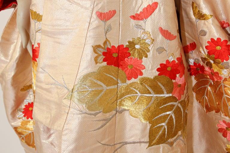 Japonisme Vintage Silk Brocade Japanese Ceremonial Wedding Kimono For Sale