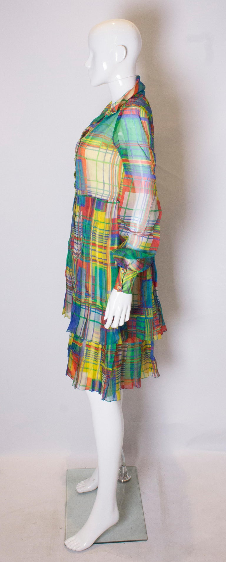 Women's Vintage Silk Chiffon Dress by Nettie Vogue London For Sale