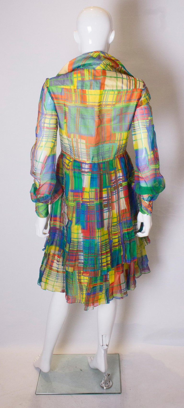 Vintage Silk Chiffon Dress by Nettie Vogue London For Sale 2
