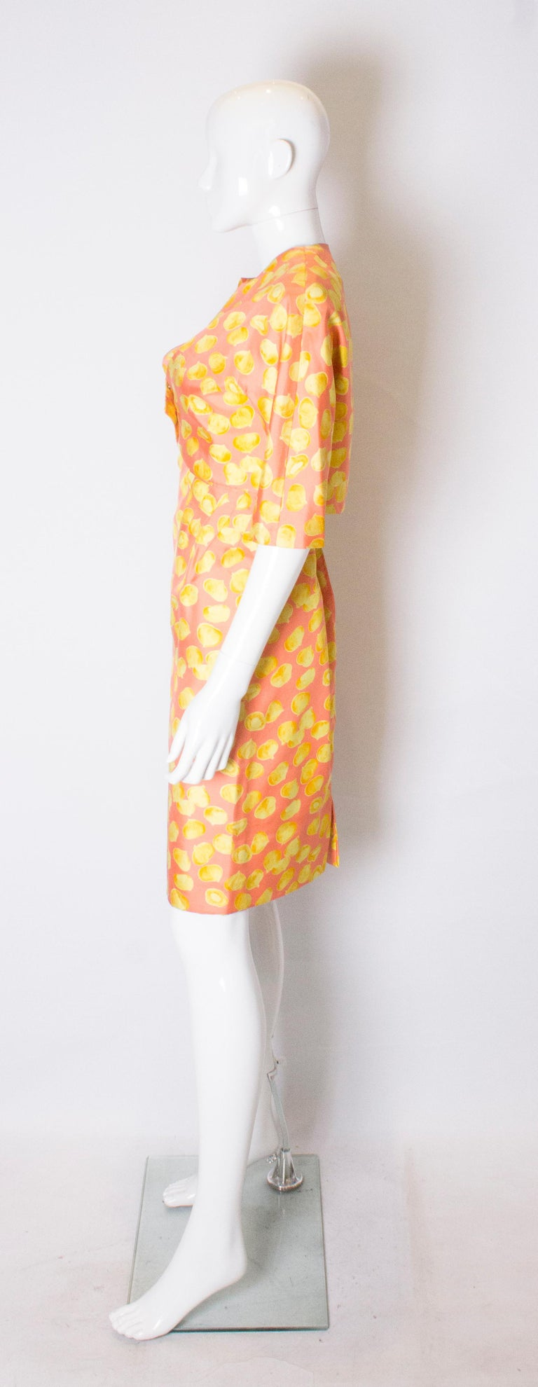 Women's Vintage Silk Cocktail Dress and Jacket For Sale