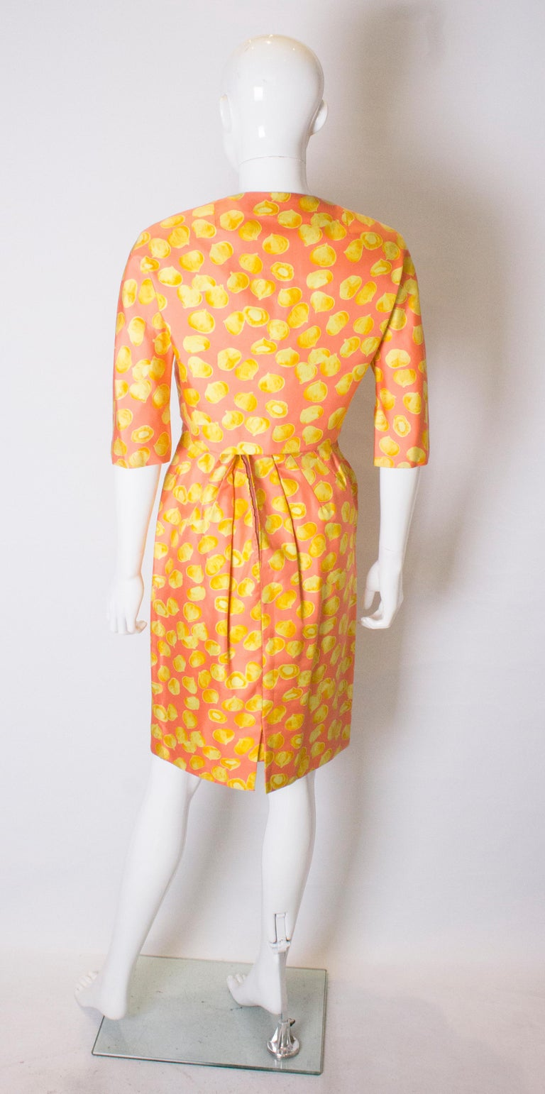 Vintage Silk Cocktail Dress and Jacket For Sale 2