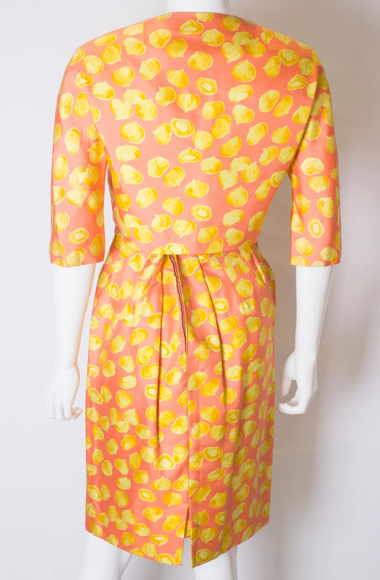 Vintage Silk Cocktail Dress and Jacket For Sale 3