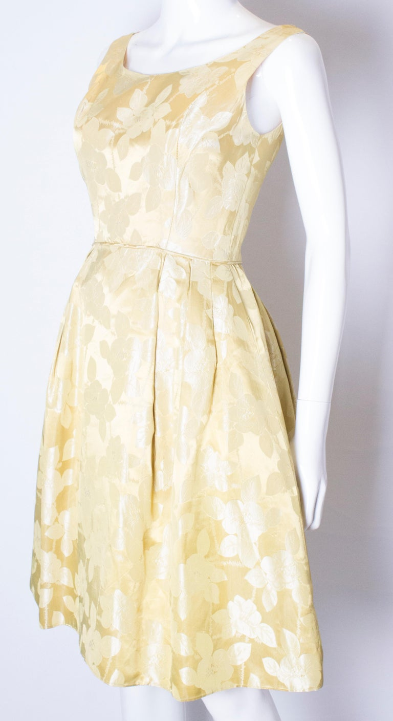 Vintage Silk Cocktail Dress In Good Condition For Sale In London, GB