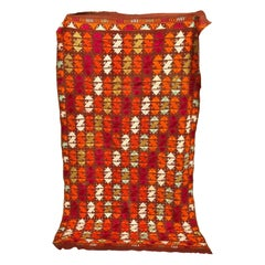 Vintage Silk Embroidered Phulkari Wedding Shawl, Punjab, India