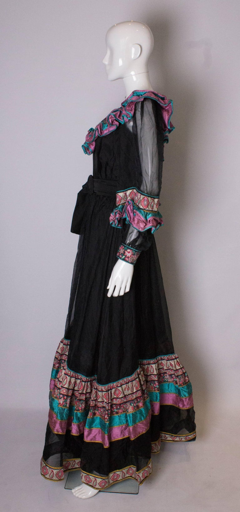 Women's Vintage Silk Gown by Regamus London For Sale