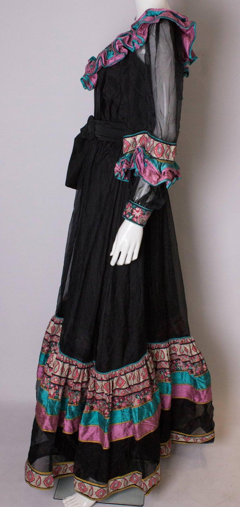 Vintage Silk Gown by Regamus London For Sale 1