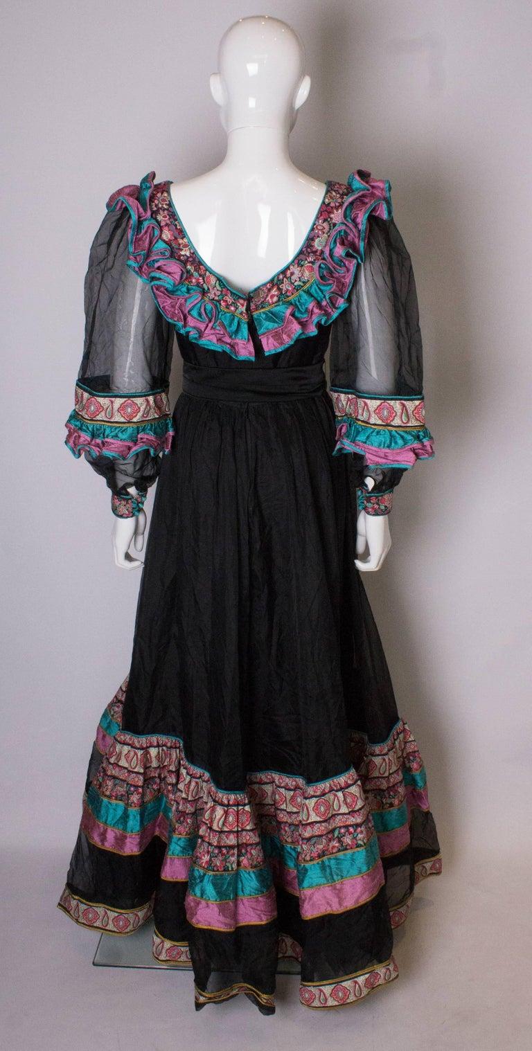 Vintage Silk Gown by Regamus London For Sale 2