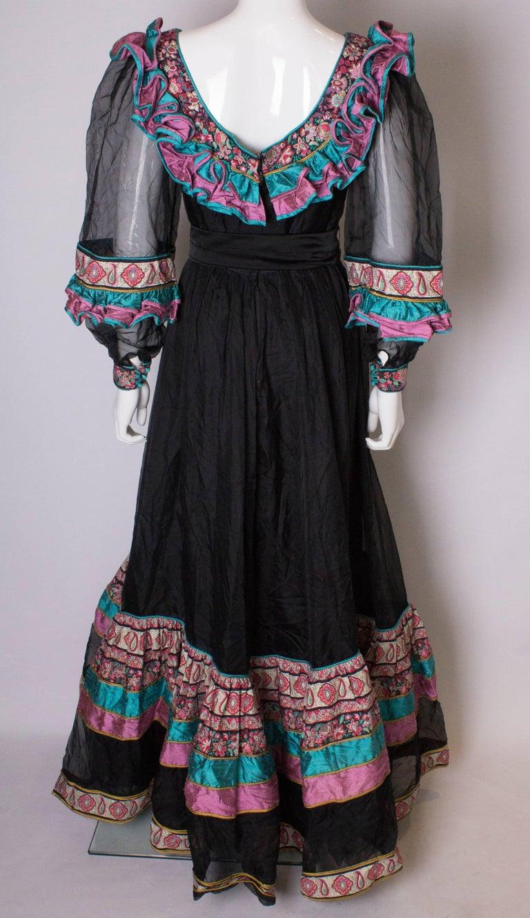 Vintage Silk Gown by Regamus London For Sale 3