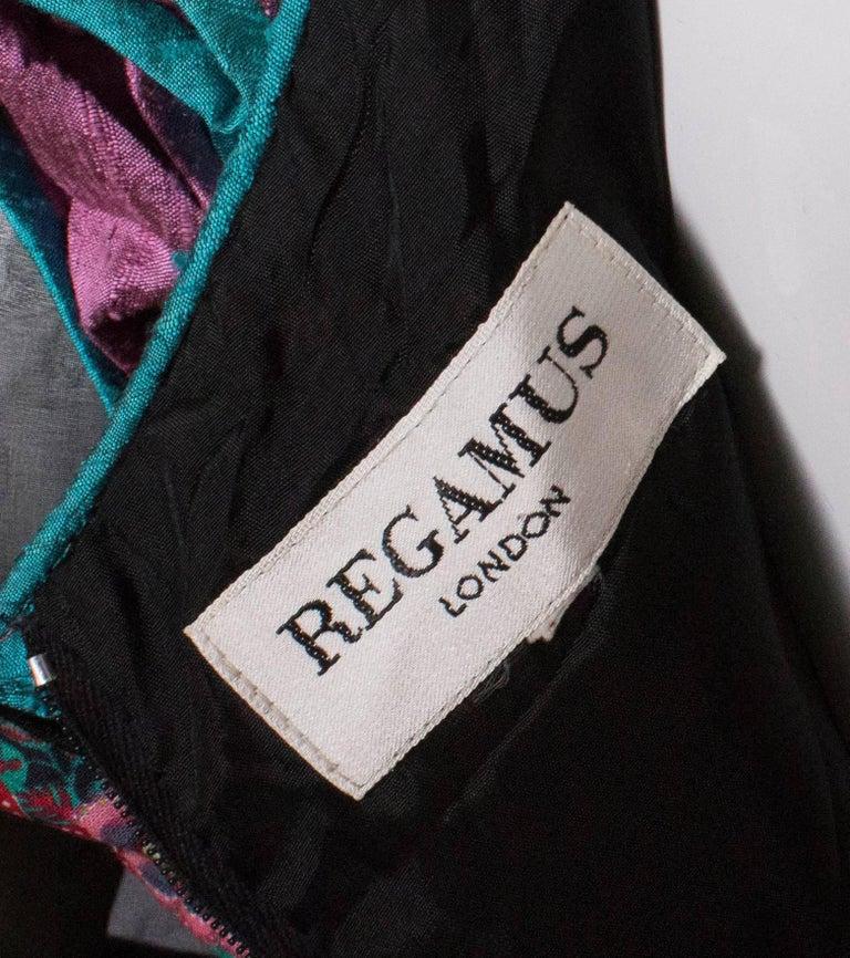 Vintage Silk Gown by Regamus London For Sale 4