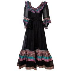 Vintage Silk Gown by Regamus London