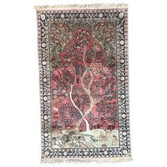 Vintage Silk Kashmir Rug