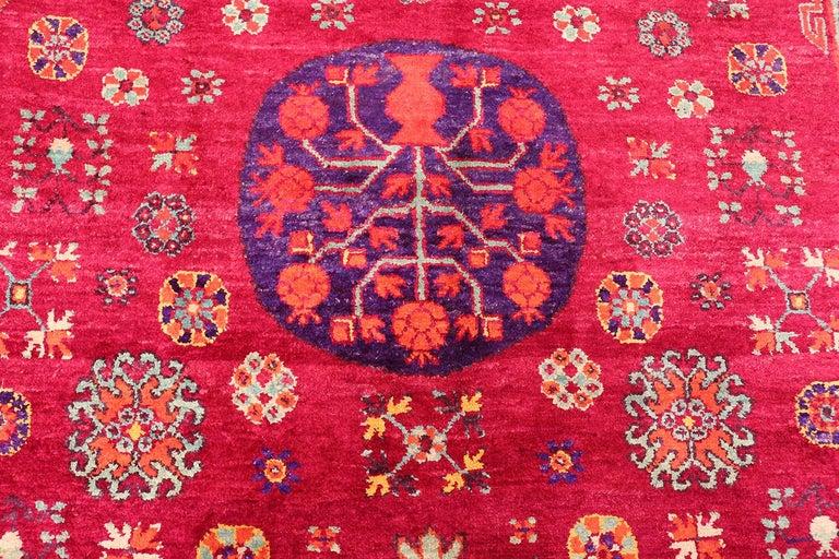 Vintage Silk Khotan Rug 10
