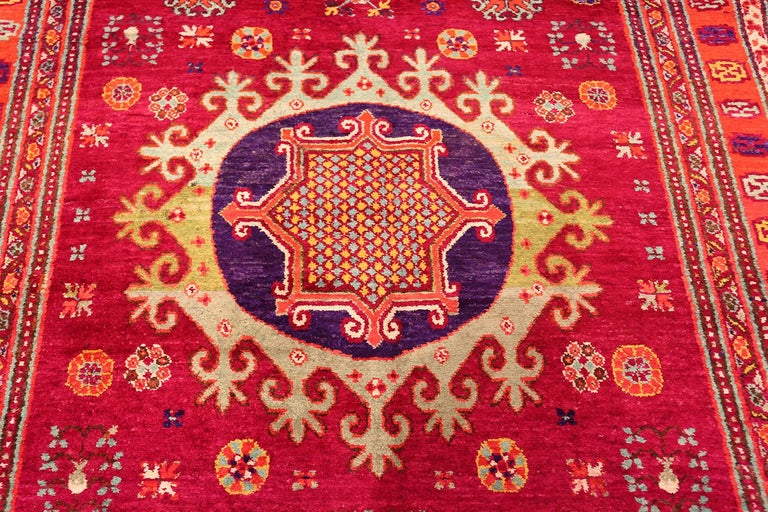 Vintage Silk Khotan Rug 13