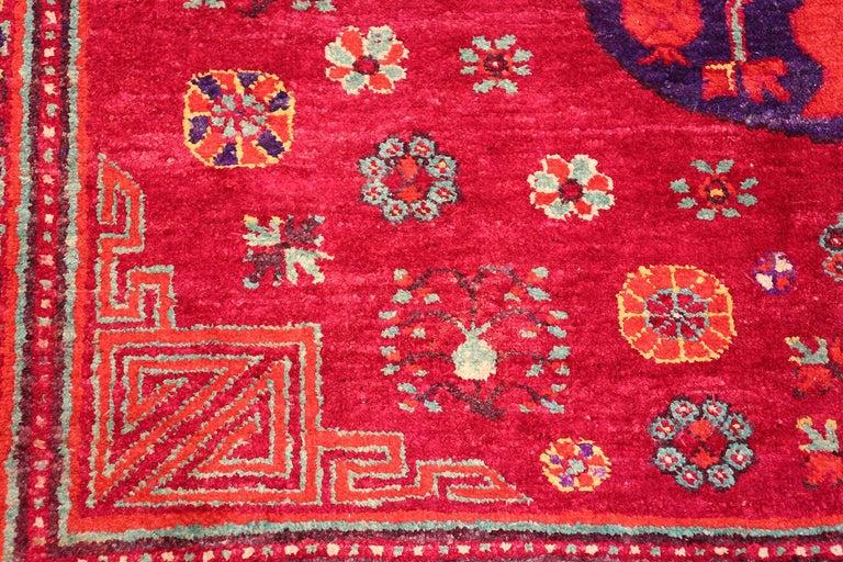 Vintage Silk Khotan Rug 3