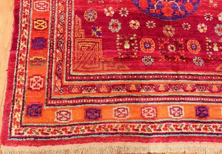 Vintage Silk Khotan Rug 4