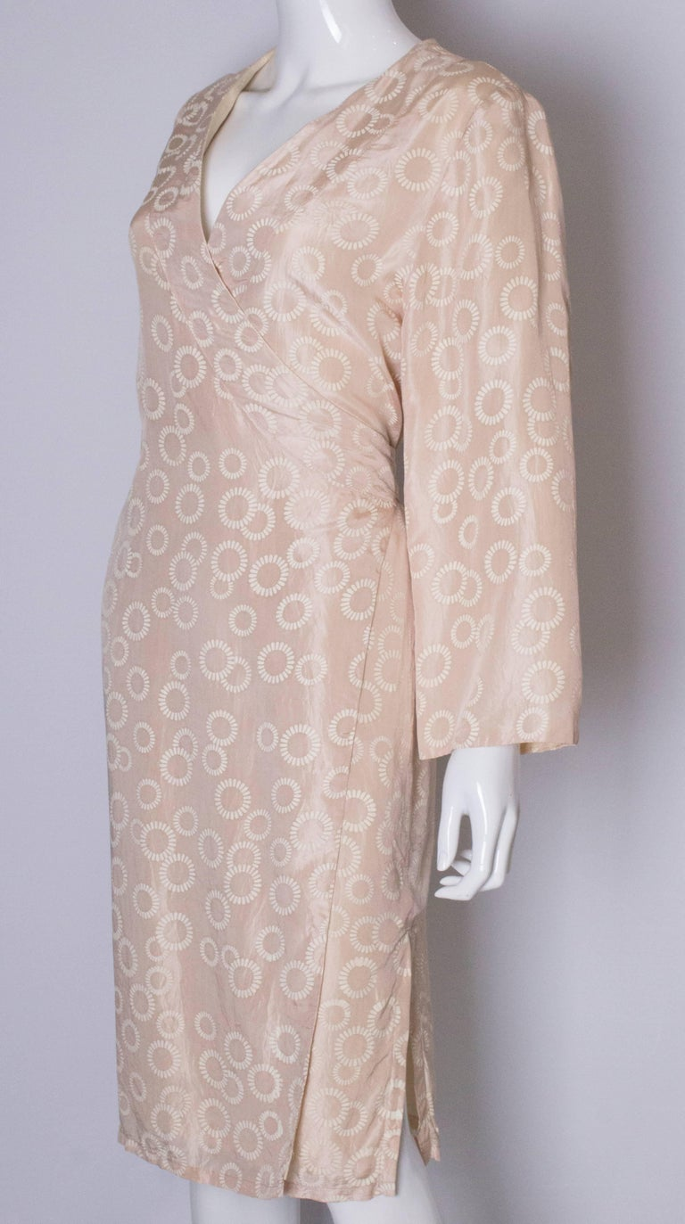 Vintage Silk Kimono Style Dress In Good Condition For Sale In London, GB