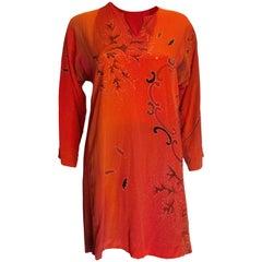 Vintage Silk Mini Dress