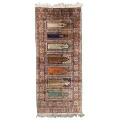Vintage Silk Turkish Kayseri Runner