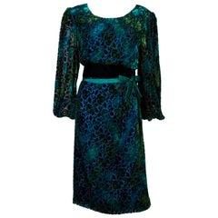 Vintage Silk Velvet Donald Campbell Dress