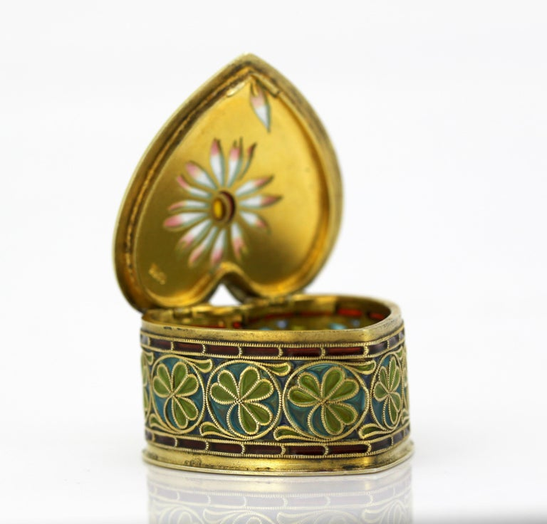 Vintage Silver and Enamel Pill Box, Made in Portugal, 1950s For Sale 6