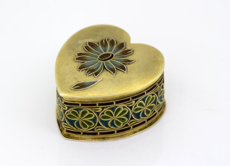 Mid-20th Century Vintage Silver and Enamel Pill Box, Made in Portugal, 1950s For Sale