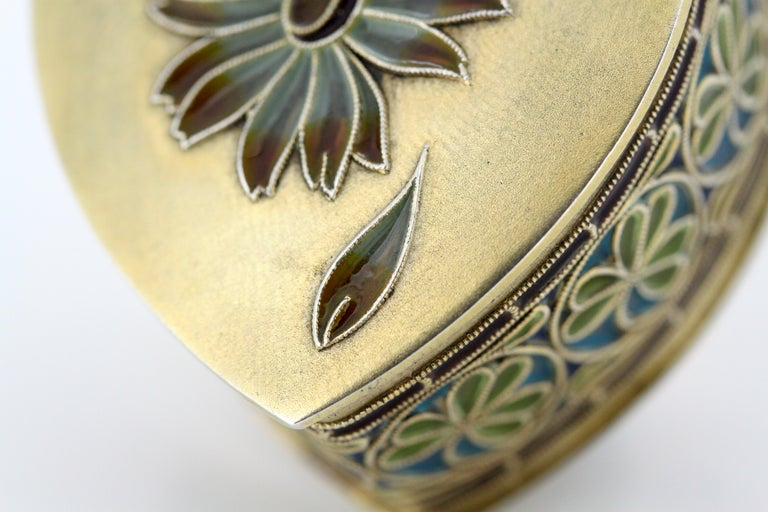 Vintage Silver and Enamel Pill Box, Made in Portugal, 1950s For Sale 3