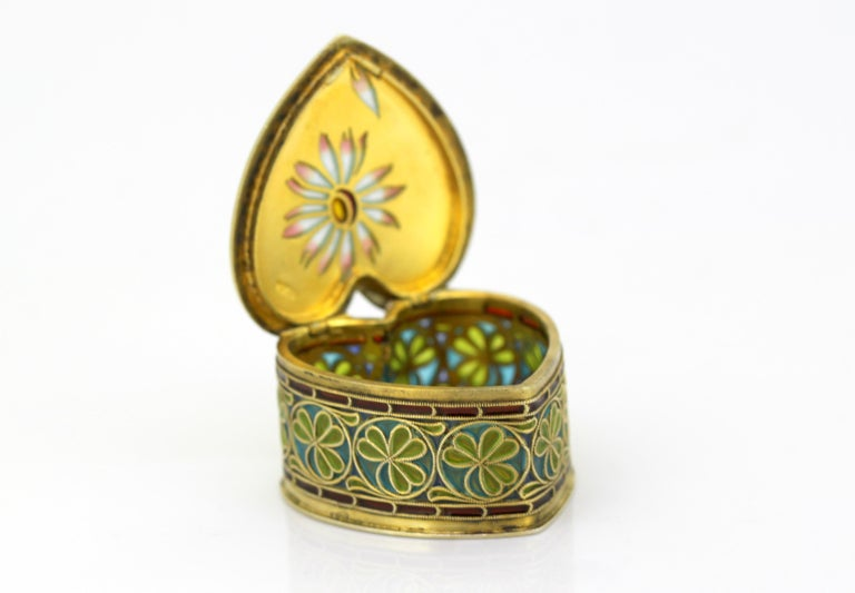 Vintage Silver and Enamel Pill Box, Made in Portugal, 1950s For Sale 4