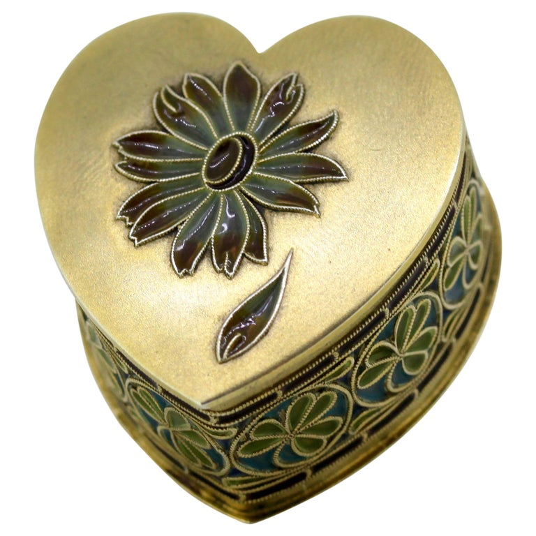 Vintage Silver and Enamel Pill Box, Made in Portugal, 1950s For Sale