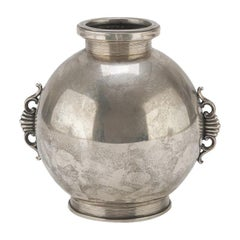 Vintage Silver Ball Jar by Ricci & Co., Italian Manufacture, 1940s