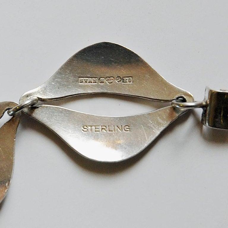 Swedish Vintage Silver Bracelet by Erik Svane for Stilsmycken, Sweden, 1960 For Sale