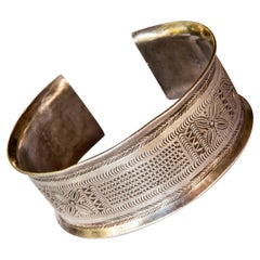 Vintage Silver Bracelet Karen of North Thailand, Mid-Late 20th Century