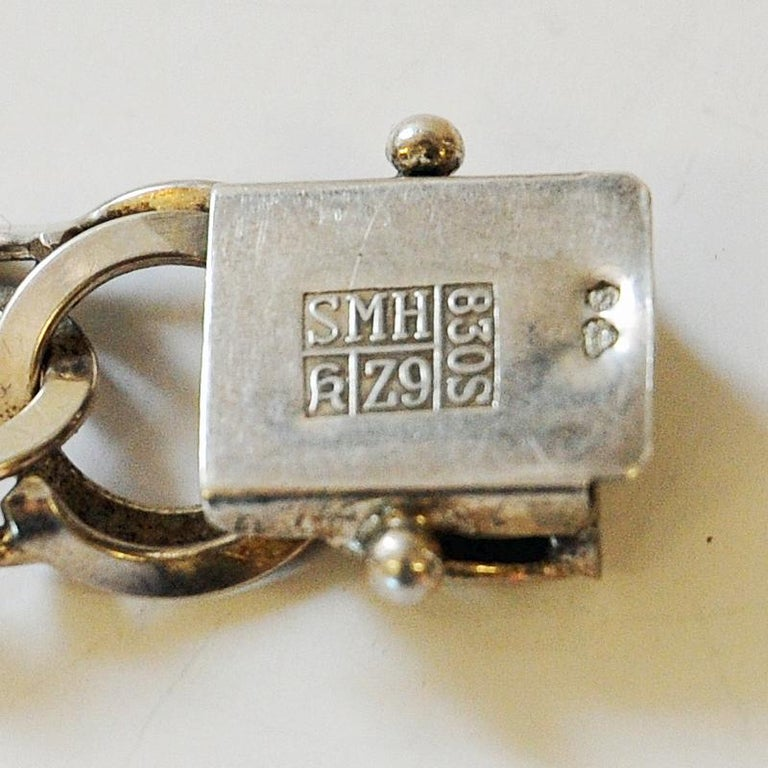 Vintage Silver Bracelet with Rings by Curt Hallberg, Sweden, 1974 For Sale 2